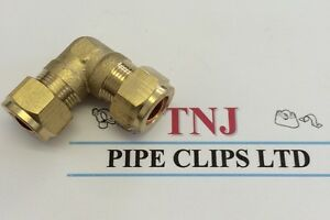 6mm- 28mm Brass Compression Fittings - Straight Elbow ,tee, plumbing,copper pipe