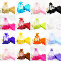 Hot 30/100pcs Organza Jewelry Packing Pouch Wedding Favor Gift Bags 19 Colors