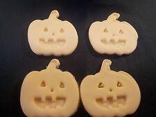 Halloween Cupcake Toppers  Pumpkin Set of 12 Handmade Sugarpaste