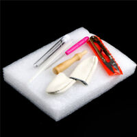 Needle Felting Starter Kit Wool Felt Tools Mat/Needles/Scissors Craft  VQ JM#
