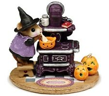 Wee Forest Folk Retired Limited Edition Halloween The Old Black Stove