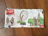 Pencil Make Up Glasses Case Made Using Cath Kidston White London Scene Fabric