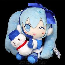 Vocaloid SNOW HATSUNE MIKU Plush Doll 2012 ver. w/ Snowman Yuki JAPAN