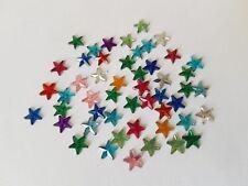 50 x Acrylic Flatback Rhinestones - 6mm - Star - Mixed Colour