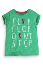 """BNWT NEXT GREEN SEQUIN """"FLIP FLOP DON'T STOP"""" T-SHIRT SIZE 8 YEARS"""