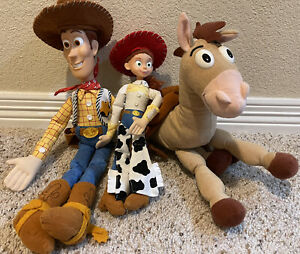Woody, Jessie & Bullseye Disney Store Toy Story Collection Dolls