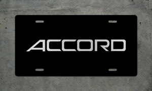 Honda Accord Aluminum License Plate Auto Tag JDM Drift Rally Civic Type R CRX