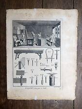 Encyclopédie Diderot D'Alembert 1 PLANCHE Layetier Fabr. Caisses Malles 18e s.