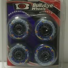 Skateboard Inline Wheels Sz 70-80 Bullzeye Bullzoid Recreational Blue Black '98