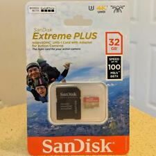 SANDISK micro SD Memory Card 32GB Extreme Plus 4K Class 10 U3