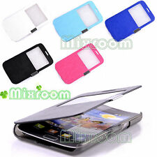CUSTODIA COVER LIBRO FINESTRINO SAMSUNG GALAXY S2 i9100 / S2 II PLUS i9105