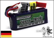 1x Turnigy nano-tech 300mah 2S 35~70C NEU Lipo Akku 7,4V JST