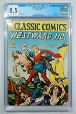 CLASSIC COMICS #14 WESTWARD HO 9/1943 CGC GRADED 8.5 scarce ONLY 5 GRADED HIGHER