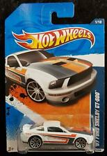 HOT WHEELS '07 FORD SHELBY GT-500 NIGHTBURNERZ - WHITE, RED BLACK STRIPES - NEW