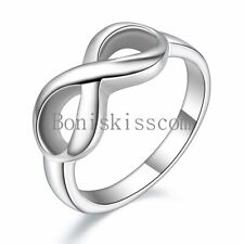Women's Girls Infinity Love Promise Stainless Steel Band Fashion Ring Size 5