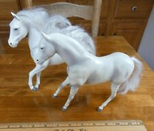 Lot of 2 Vintage 1988 H.G. Toys White Horse Mare Plastic Kids' Toy