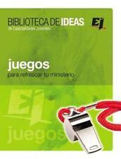 Juegos: Biblioteca de Ideas: Para Refrescar Tu Ministerio (Paperback or Softback