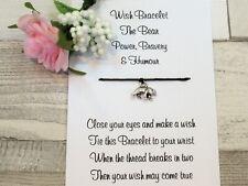 Bear Wish Bracelet Friendship Gift Card Spirit Animal Symbolism Bravery Humour
