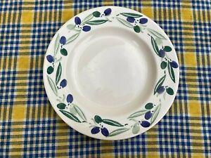 "Scarce 1997 Emma Bridgewater Blue ""Olives"" Pattern 10 1/2"" Diameter Dinner Plate"