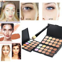 15 Color Face Contour Cream Makeup Concealer Contouring Palette Suit+Brush Newly