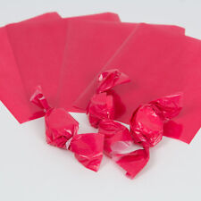 """Wax Candy Wrappers -for caramels & taffy -  Red 4""""x5"""", 1 lb. package"""
