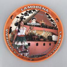 La Morena Metal Serving Tray tin Mexican Mexico advertising charola