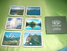 6 DRINKS COASTERS BY JASON PRODUCTS OF NEW ZEALAND-USED ONCE-IN EXC. COND.