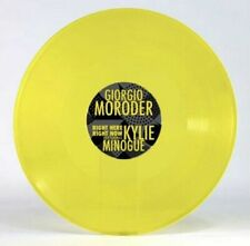 """GIORGIO MORODER & KYLIE MINOGUE RIGHT HERE RIGHT NOW YELLOW VINYL 12"""" PREORDER"""