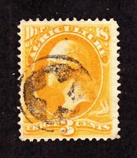 US O3 3c Agriculture Department Used w/ Negative Star Fancy Cancel