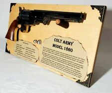 Free Standing Gun Display for 1860 Colt Army Revolver Black Powder Rack 96