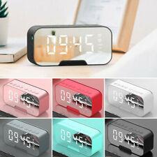 More Colors Digital Alarm Clock Fm Radio Wireless Mirror Led Clocks W/ Speaker