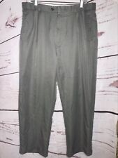 Braggi trouser pants sz 38X30 mens gray front pleated cuffed actual 36X29
