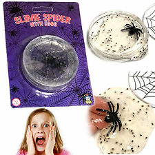 SLIME SPIDER & EGGS BOYS GROSS SCARY TOY CREEPY GIFT BIRTHDAY PARTY BAG FILLER