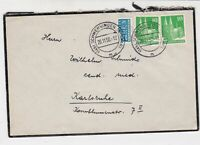 Germany 1950 Schwen. Cancel Obligatory Tax Aid for Berlin Stamps Cover Ref 28103