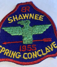 Vintage 1955 Shawnee Spring Conclave Embroidered Patch Eagle BSA Boy Scouts