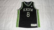 Kr3w Krew Black #8 Men's Size Medium Stitched Basketball NBA Jersey