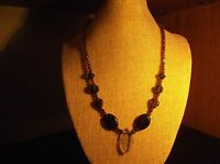 Handmade Purple Glass Bead Necklace 18 Inch *NWOT*