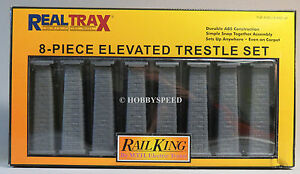 MTH REAL TRAX ELEVATED TRESTLE SET train track elevated bridge piers 40-1034 NEW