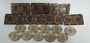 Old Vintage Sign House Door Numbers 7,12,15,19,22,26,28,30,31,34,35,36,38,39,40