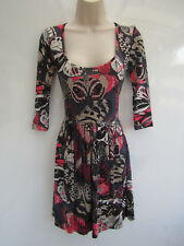 "French Connection ""Marina"" Butterfly Print Skater Style Dress sz 8"