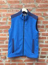 REI Fleece Vest Medium Mens Blue Outdoor Camping Hiking Pockets (1179)