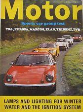 Motor magazine 19/12/1970 featuring TVR, Lotus, Triumph, Trident, Marcos