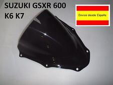 Suzuki GSXR 600/750 K6-K7 Pantalla De Doble Burbuja cupula negra