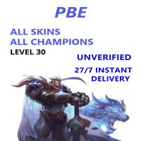 PBE League of Legends LOL Account Unranked Smurf Level 30 - Instant Delivery