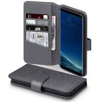 Real Luxury Leather Wallet Pelle Vera™ Grey Case Samsung Galaxy S8 PLUS
