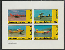 GB Locals - Bernera 2867 - AIRCRAFT imperf sheetlet unmounted