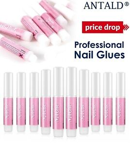 Extra Strong Nail Glue 2g Quick Dry Adhesive Bond Nails Art Tips Acrylic Gel UK