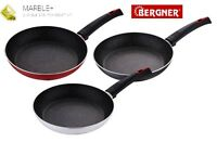 Bergner Marble Coated Non Stick Frying Pan Red Black White 28, 26, 24, 22, 20 cm