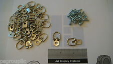 "50 1-1/4"" Round D Ring Picture Frame Hangers Strap Hanger 50 # 6 3/8"" Screws"