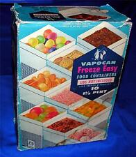 VTG 1950'S UNUSED BOX OF 10 VAPOCAN 1 1/2 PINT BOXES - WAX COVERED PAPER, CRAFTS